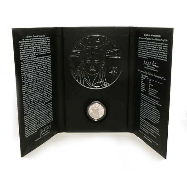 Platinum American Eagle Proof 2011 One Ounce Preamble Series