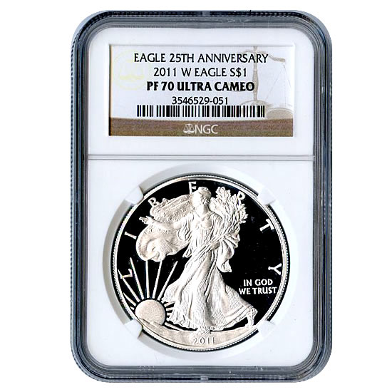 Certified Proof Silver Eagle 2011 PF70 NGC