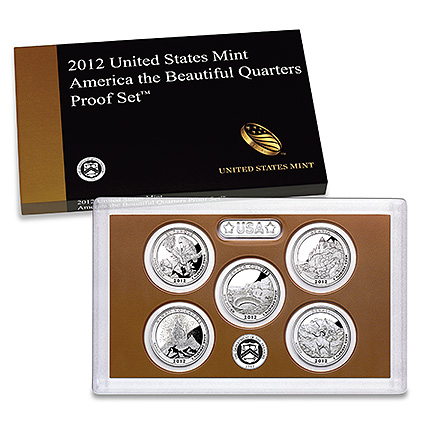 US Proof Set 2012 5pc (Quarters Only) America The Beautiful