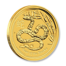 Australian Series II Lunar Gold One Ounce 2013 Snake