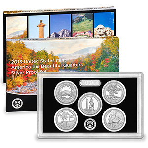 US Proof Set 2013 5pc Silver (Quarters Only) America The Beautiful