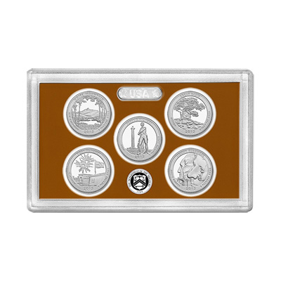 US Proof Set America the Beautiful Quarters Without Box 2013