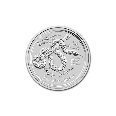2013 Australia 1/2 oz Silver Lunar Snake