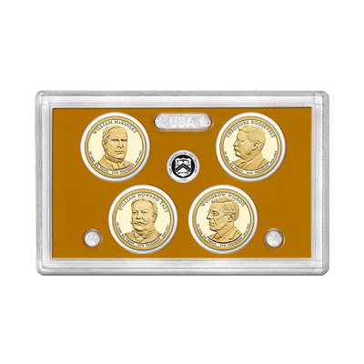 US Presidential Dollar 4pc Proof Set 2013 Without Box