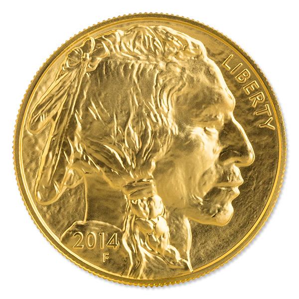 Uncirculated Gold Buffalo Coin One Ounce 2014
