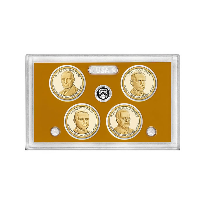 US Presidential Dollar 4pc Proof Set 2014 Without Box