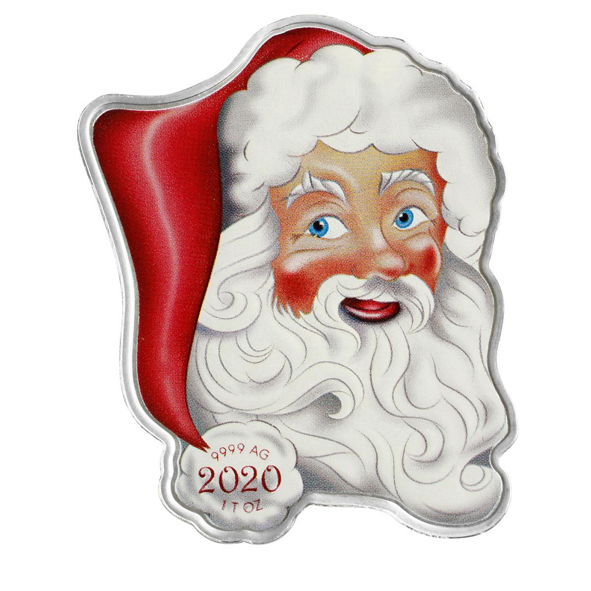 2020 Pamp Holiday Santa 1oz Silver Coin - Solomon Islands