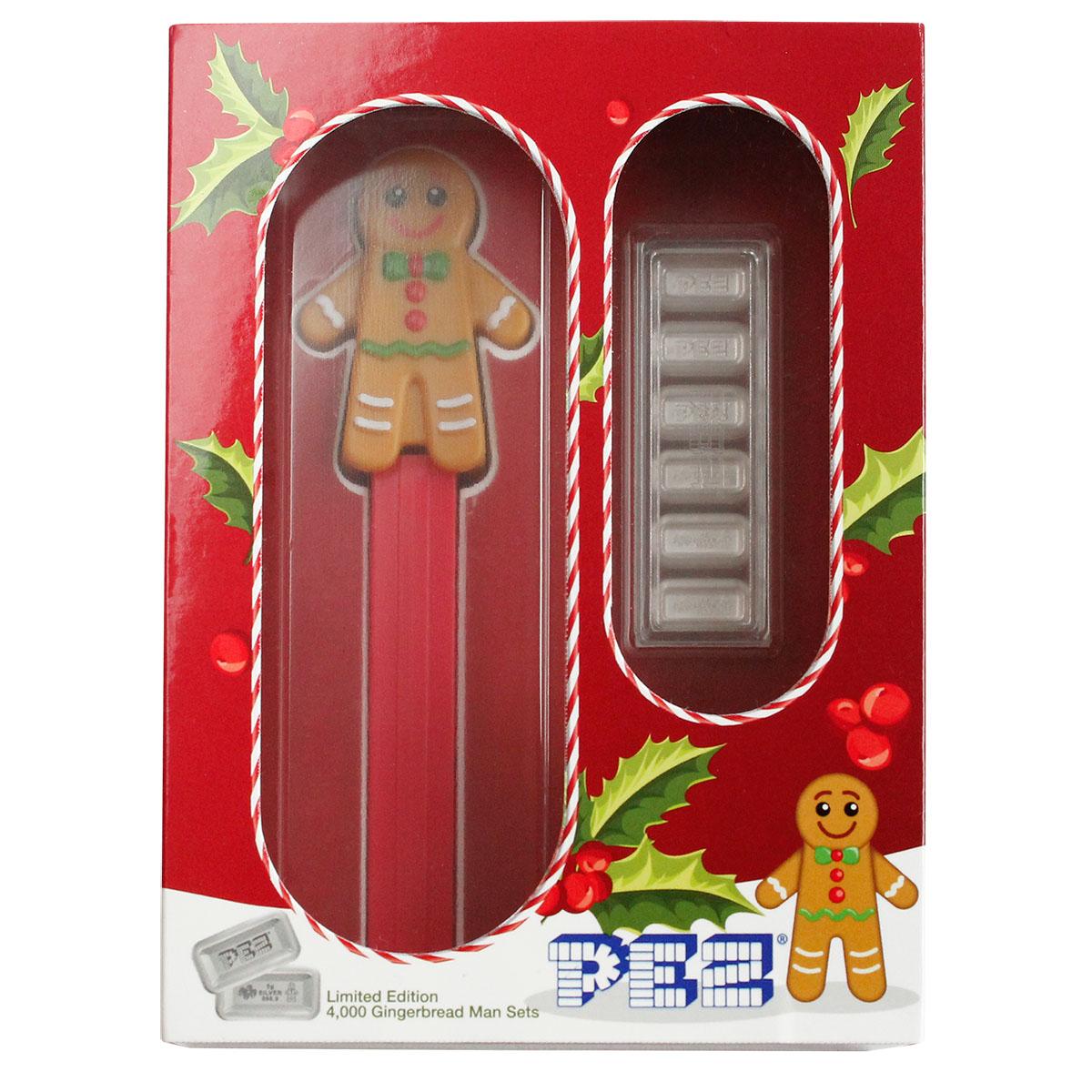Holiday Gingerbread Man Pez Gift Set  - 6x5 gram Silver Bars