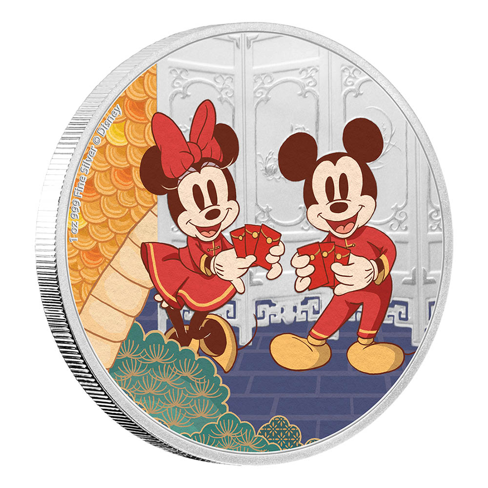2020 Niue Silver 1oz Disney - Mickey & Minnie Mouse Longevity