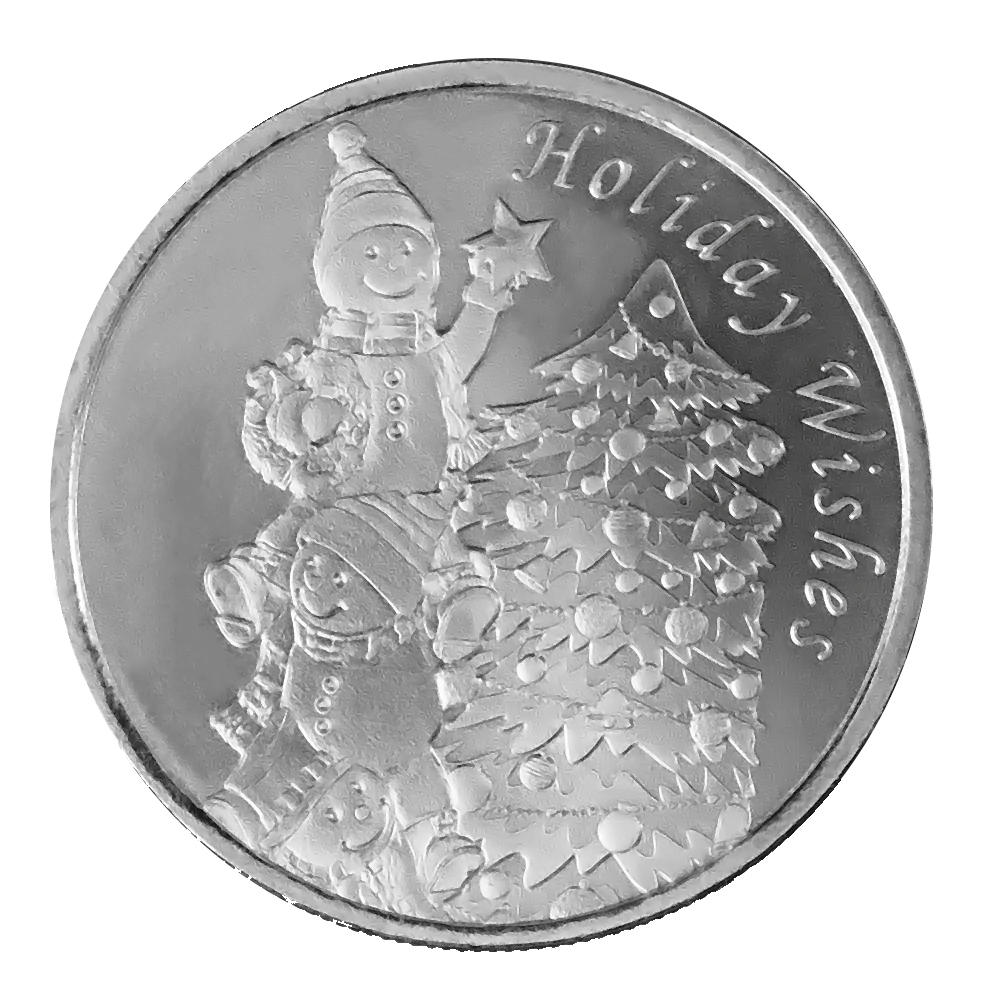 2021 Holiday Wishes 1oz Silver Round