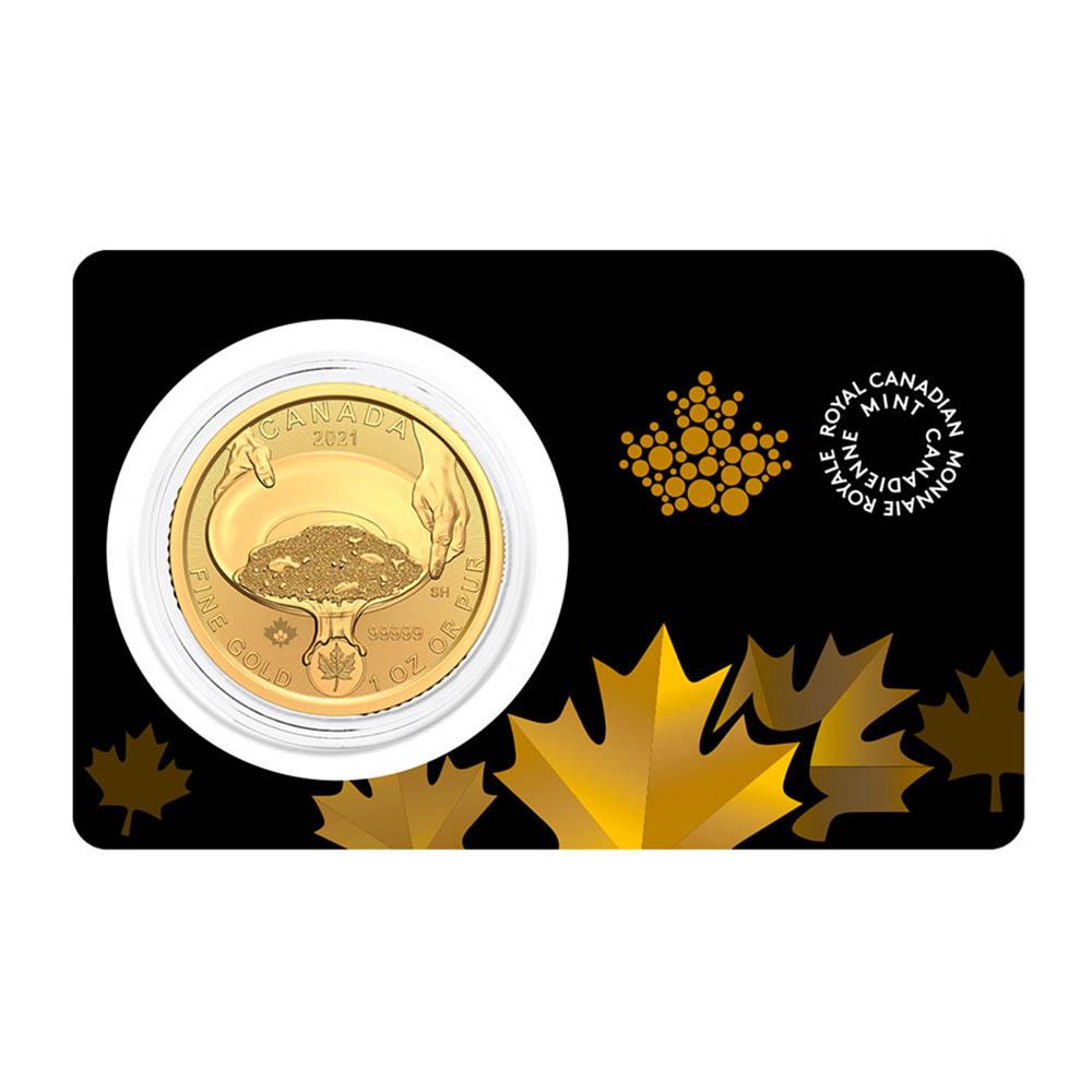 2021 1 oz Gold Klondike Gold Rush: Panning for Gold Coin .99999
