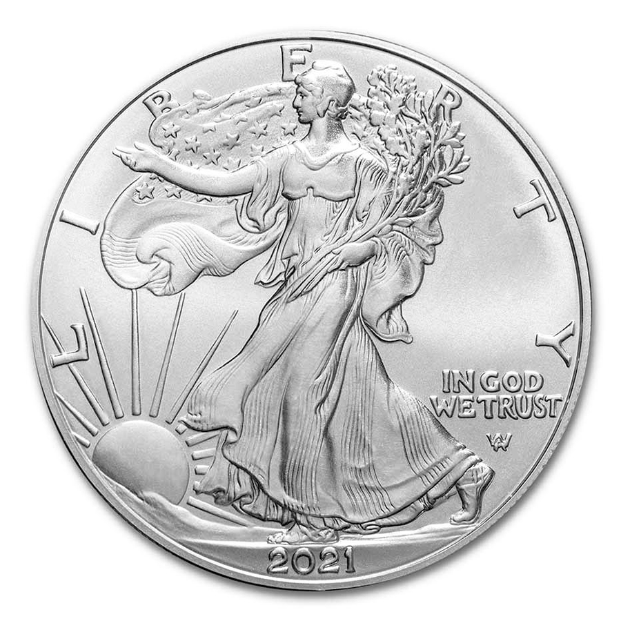 2021 1 oz American Silver Eagle Coin BU Type 2