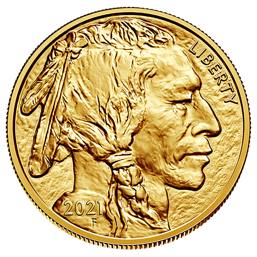 Uncirculated Gold Buffalo Coin One Ounce 2021