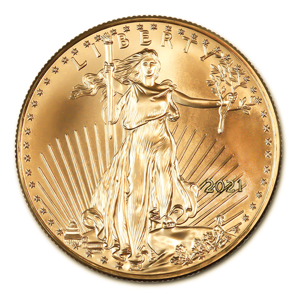 2021 American Gold Eagle 1/10 oz Uncirculated Type 1