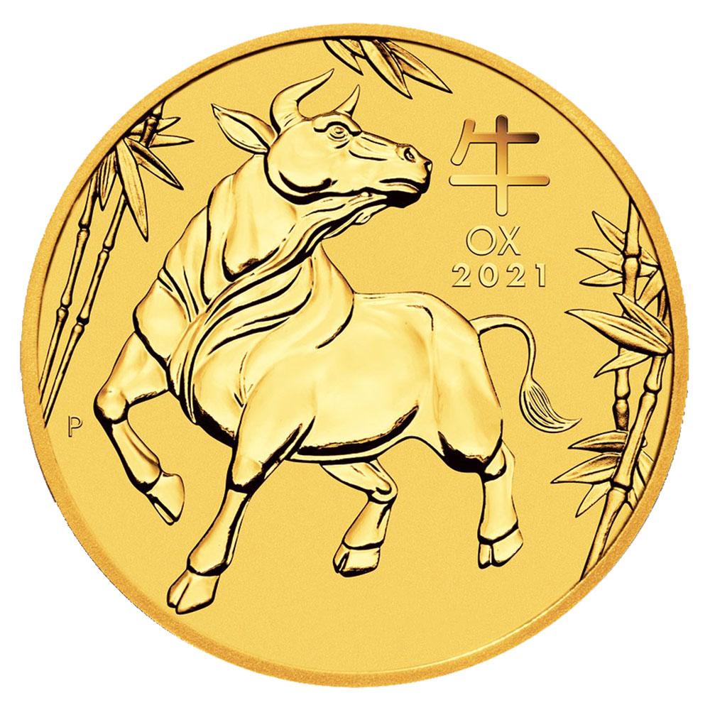 2021 Australia 1oz Gold Lunar OX BU (Series III)