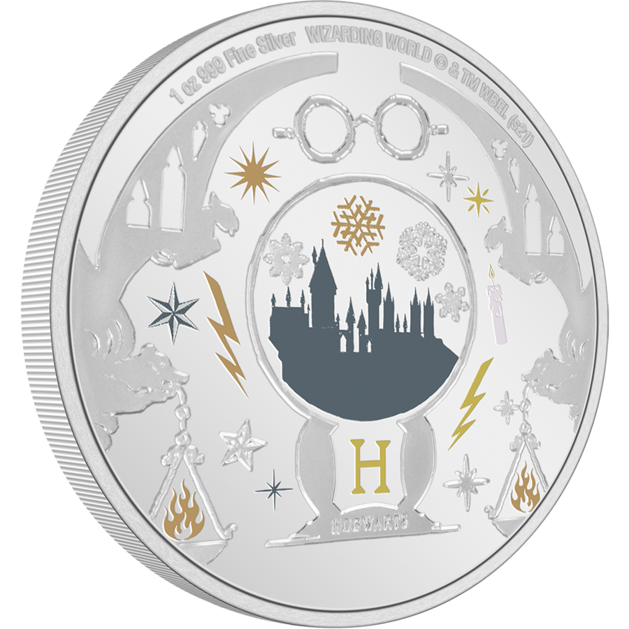 HARRY POTTER™ Season's Greetings 2021 1oz Silver Coin