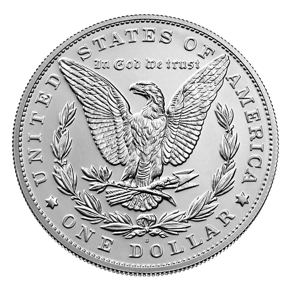 Morgan 2021 Silver Dollar with (S) Mint Mark