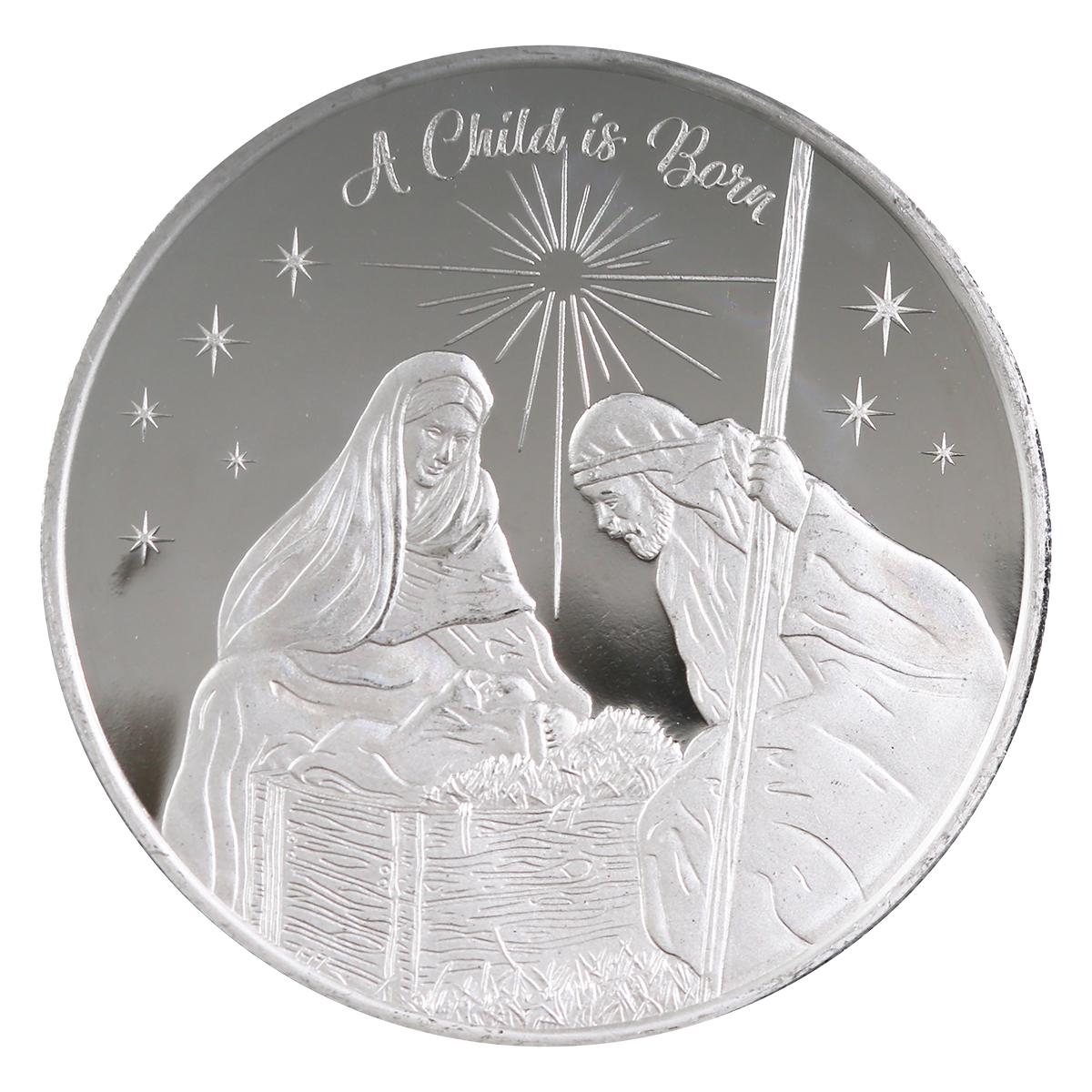 2021 Nativity Scene 1oz Silver Round (D-14)