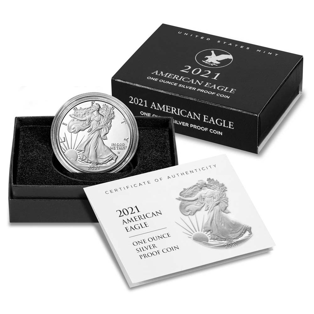 Proof Silver Eagle 2021-W Type-2