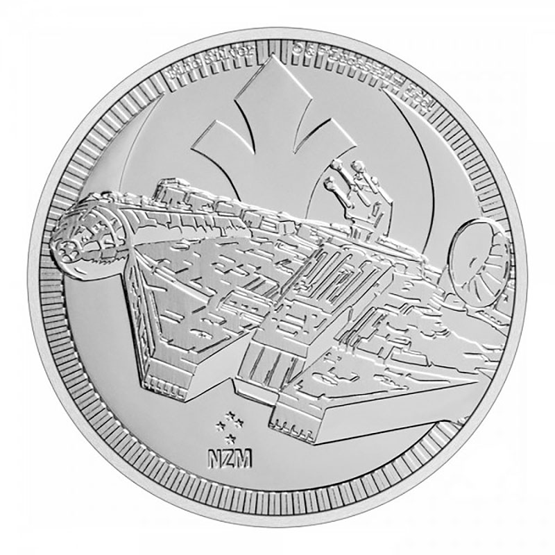 2021 1 oz Niue Silver Star Wars Millennium Falcon Coin (BU)