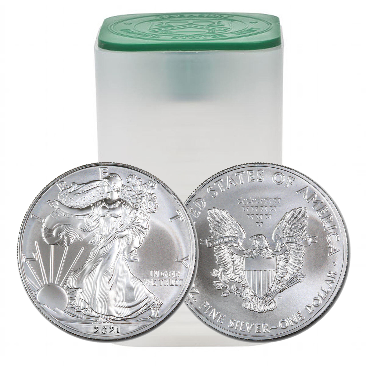 2021 Silver Eagle Type 1 Roll of 20 Uncirculated Coins