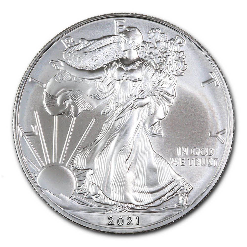 2021 1 oz. Silver American Eagle BU Type I