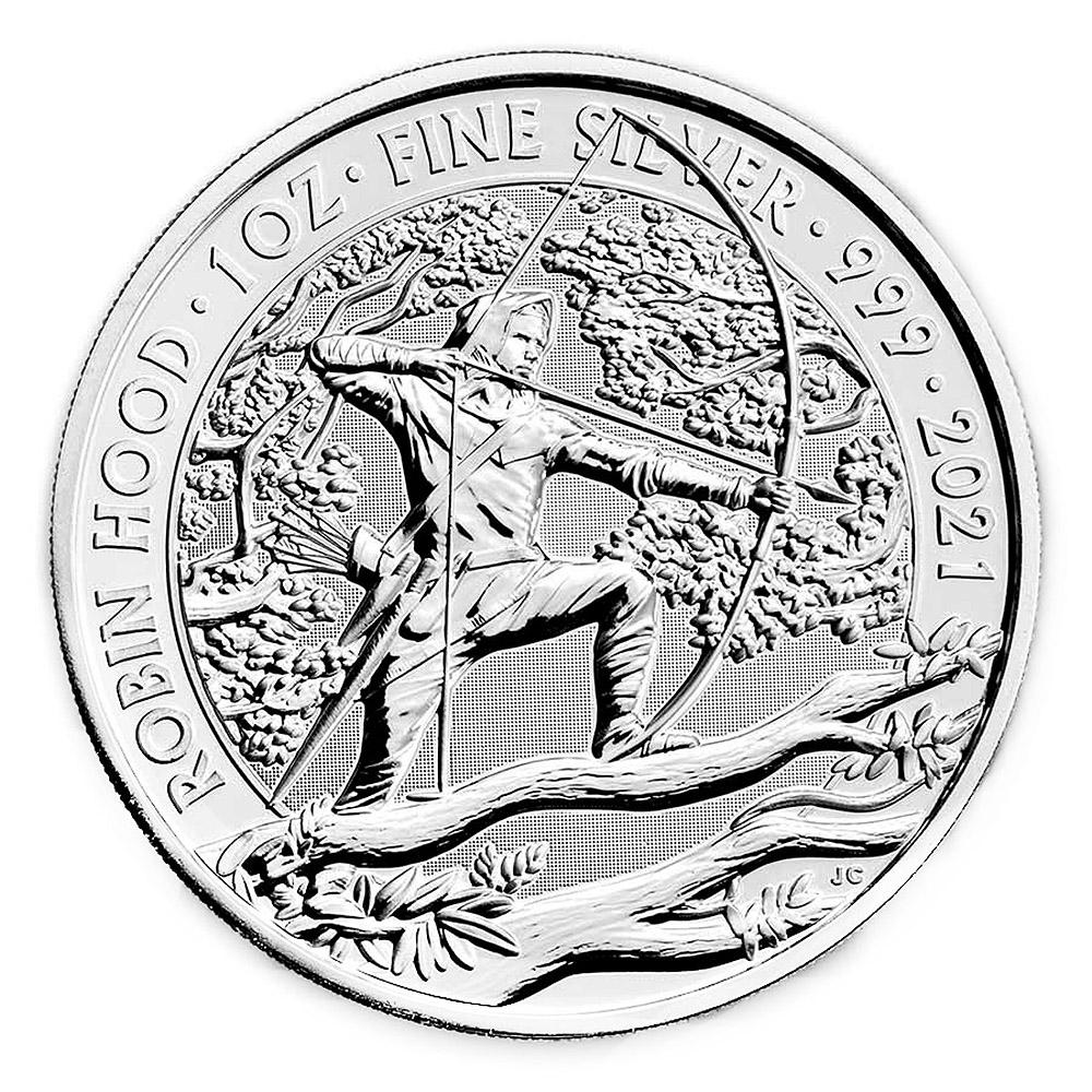 2021 Great Britain 1oz Silver Myths and Legends: Robin Hood BU
