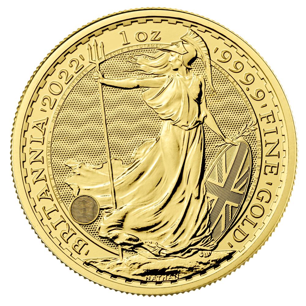 Great Britain 1 oz Gold 2022 Britannia BU