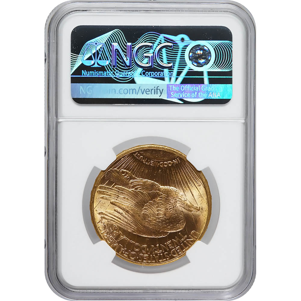 Certified $20 St Gaudens 1911-S MS63 NGC