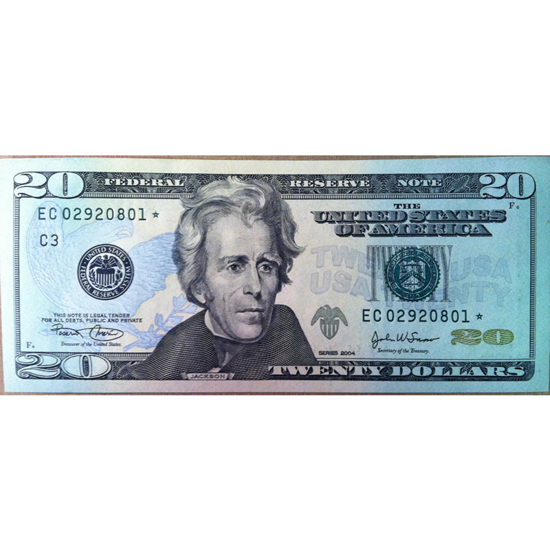 2004 $20 Star Federal Reserve Note UNC