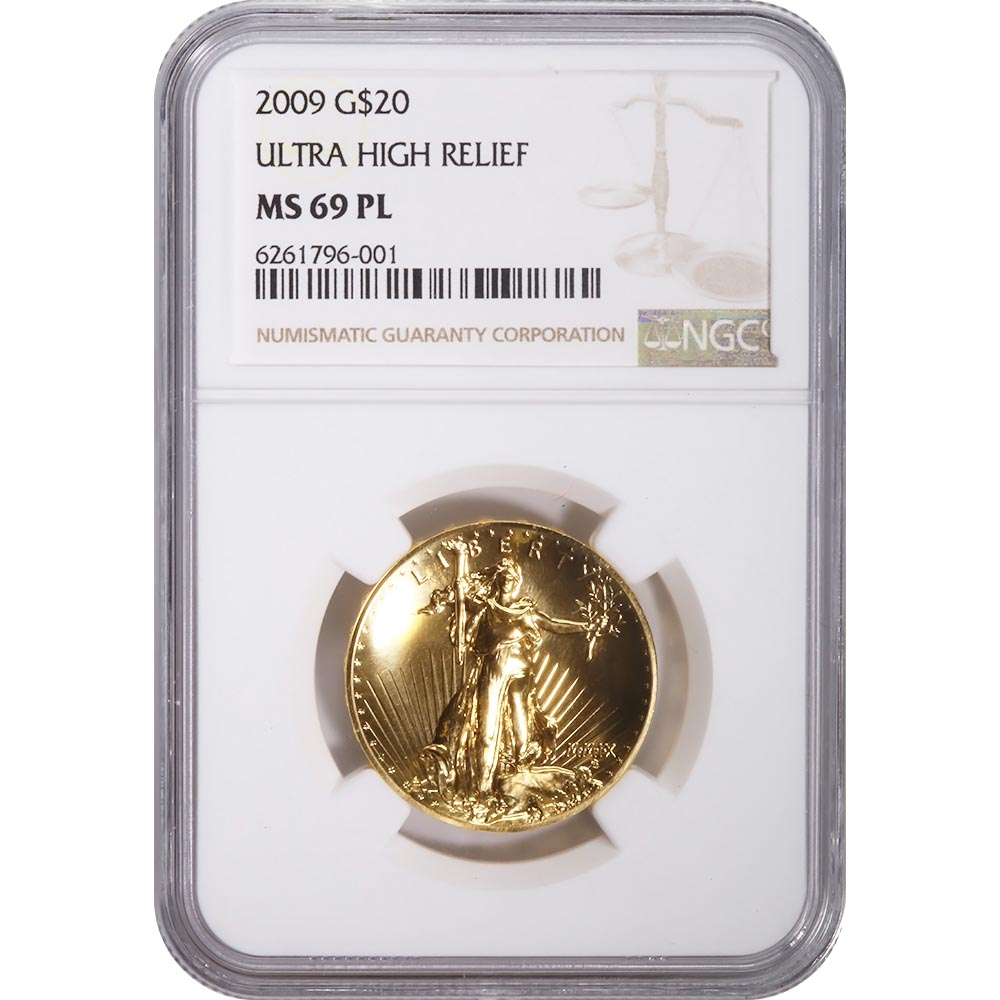 Certified 2009 Ultra High Relief MS69 PL NGC