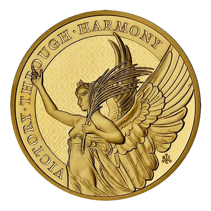 2021 1oz St. Helena Gold Queen's Virtues Victory Coin