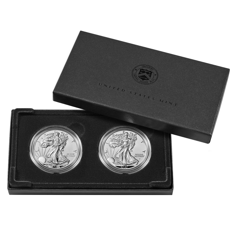 2021 One Ounce American Silver Eagle Reverse Proof Two-Coin Designer Set