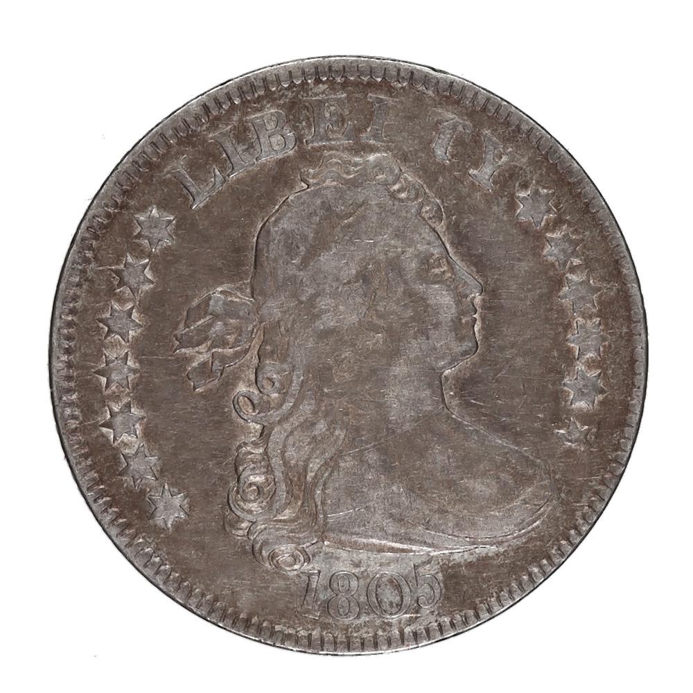 Draped Bust Quarter 1805 VF