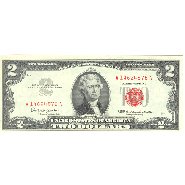 1963 $2 Legal Tender Note CU