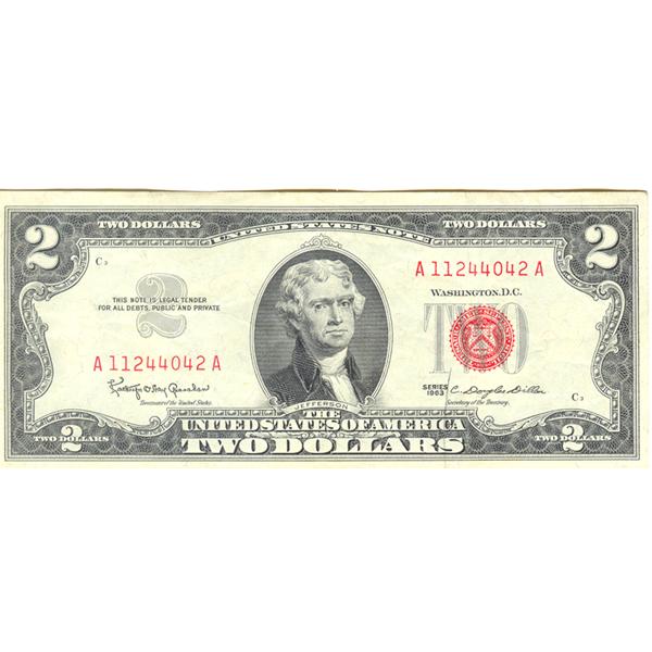 1963 Series $2 Legal Tender Note F-VF