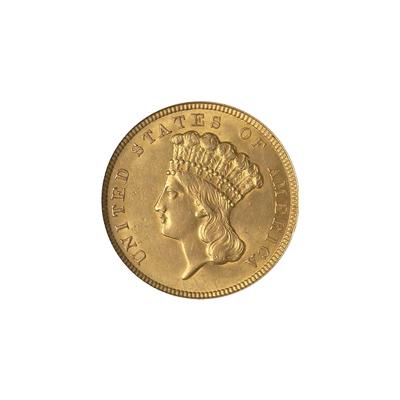 Early Gold Bullion $3 Liberty Extra Fine
