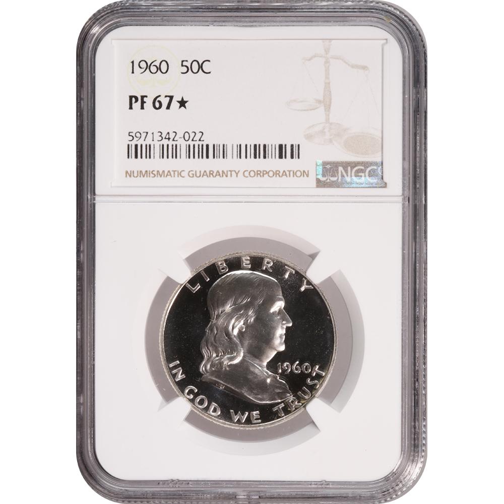 Certified Proof Franklin Half Dollar 1960 PF67* NGC
