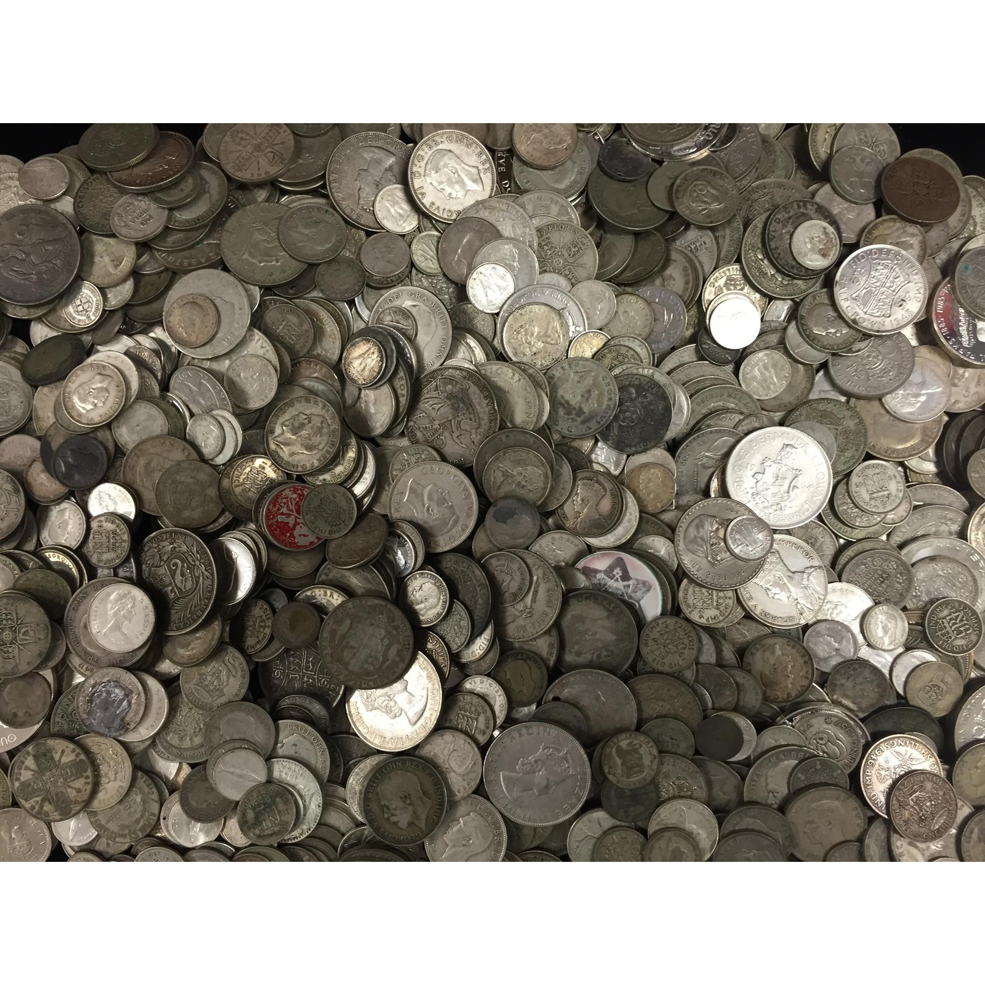 10 ounces 50% pure silver world coins
