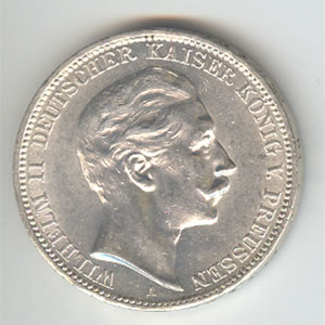 Prussia 3 mark 1908-1912 (KM527)