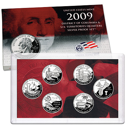 US Proof Set 2009 6pc Silver (Quarters Only)