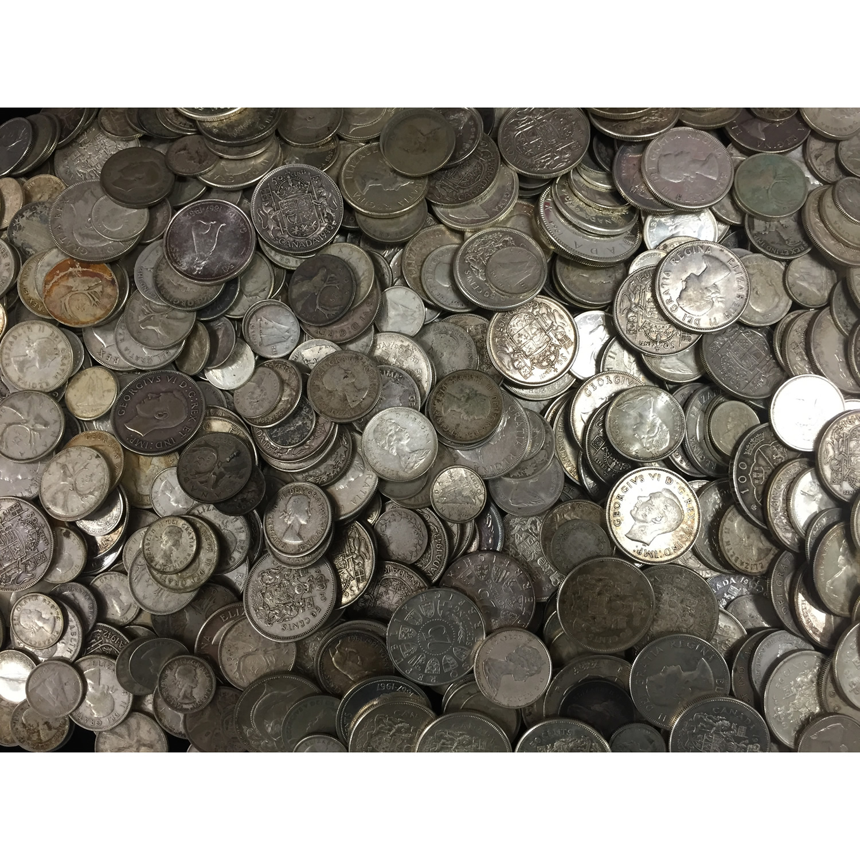 10 ounces 80% pure silver world coins