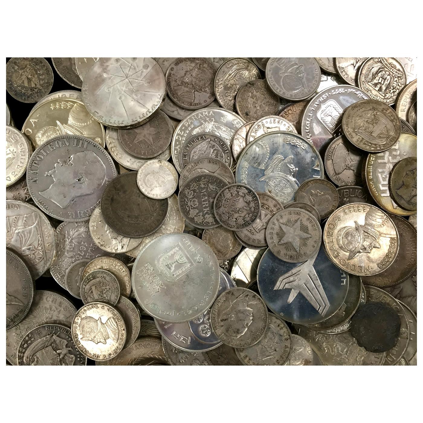 10 ounces 90% pure silver world coins