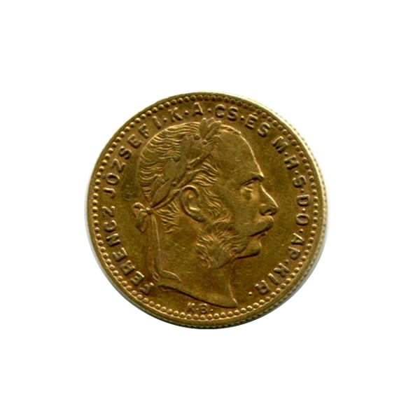 Hungary 8 forin-20 francs gold 1870-1890