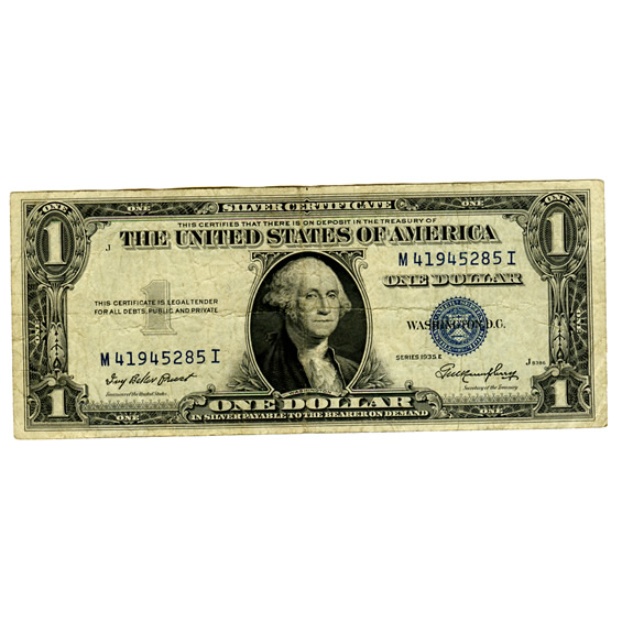 Silver Certificate $1 Note 1935-57 VG-VF