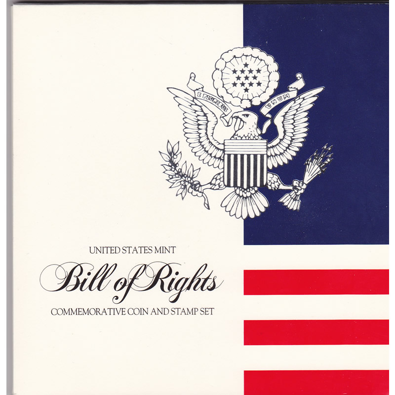 1993 Bill of Rights Commemorative Coin and Stamp Set