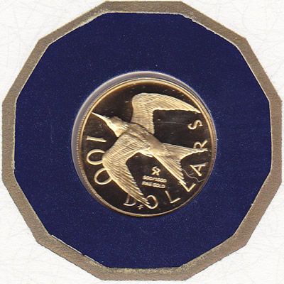 British Virgin Islands $100 Gold PF 1975 Tern