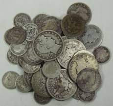 90% Silver Assorted Barber Coins Circulated $10 Face