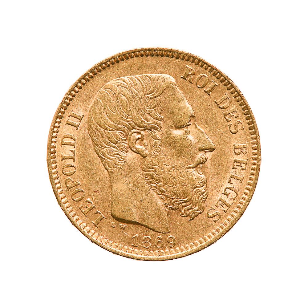 Belgium 20 franc Leopold II Gold Coin