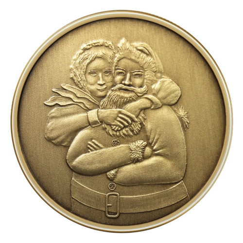 Christmas Bronze 2013 Mr. & Mrs. Santa Claus 1oz X-1